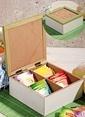 Mizzy Home Ahşap 4 Bölmeli Çay Saklama Kutusu Renkli